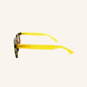 Retro shape stained sun reading glasses with keyhole shaped nose