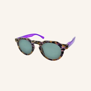 Sun reading glasses with octagonal keyhole shaped nose