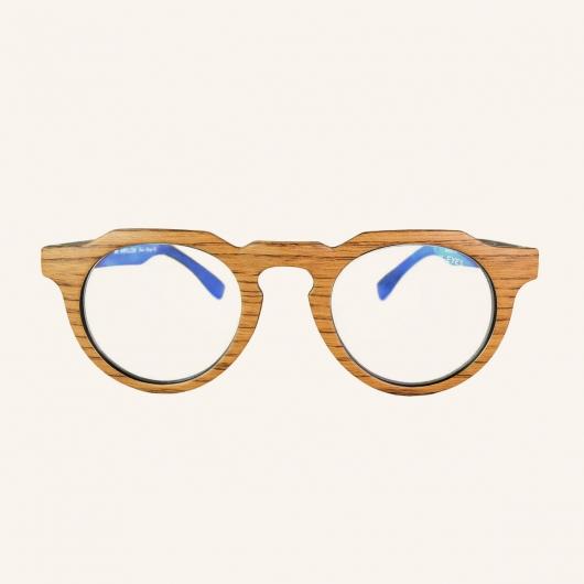 Gafas de pantallas octogonal con puente en forma de ojo de cerradura