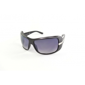 Oversized sunglasses with silver line