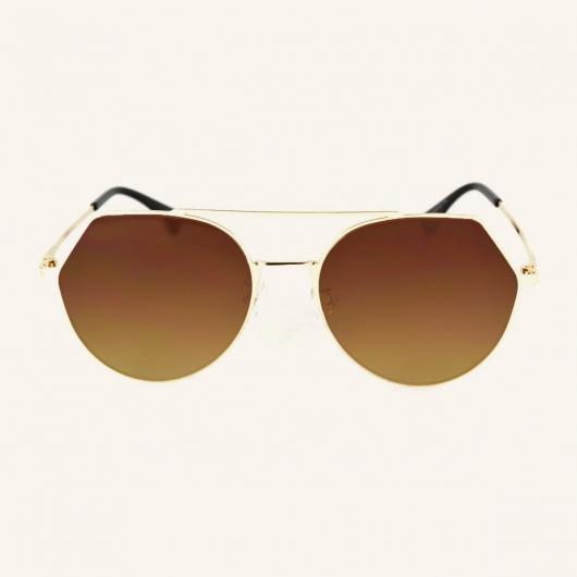 Geometric metal Pilot sunglasses