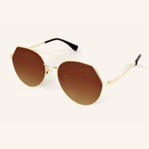 Geometric metal Pilot sunglasses