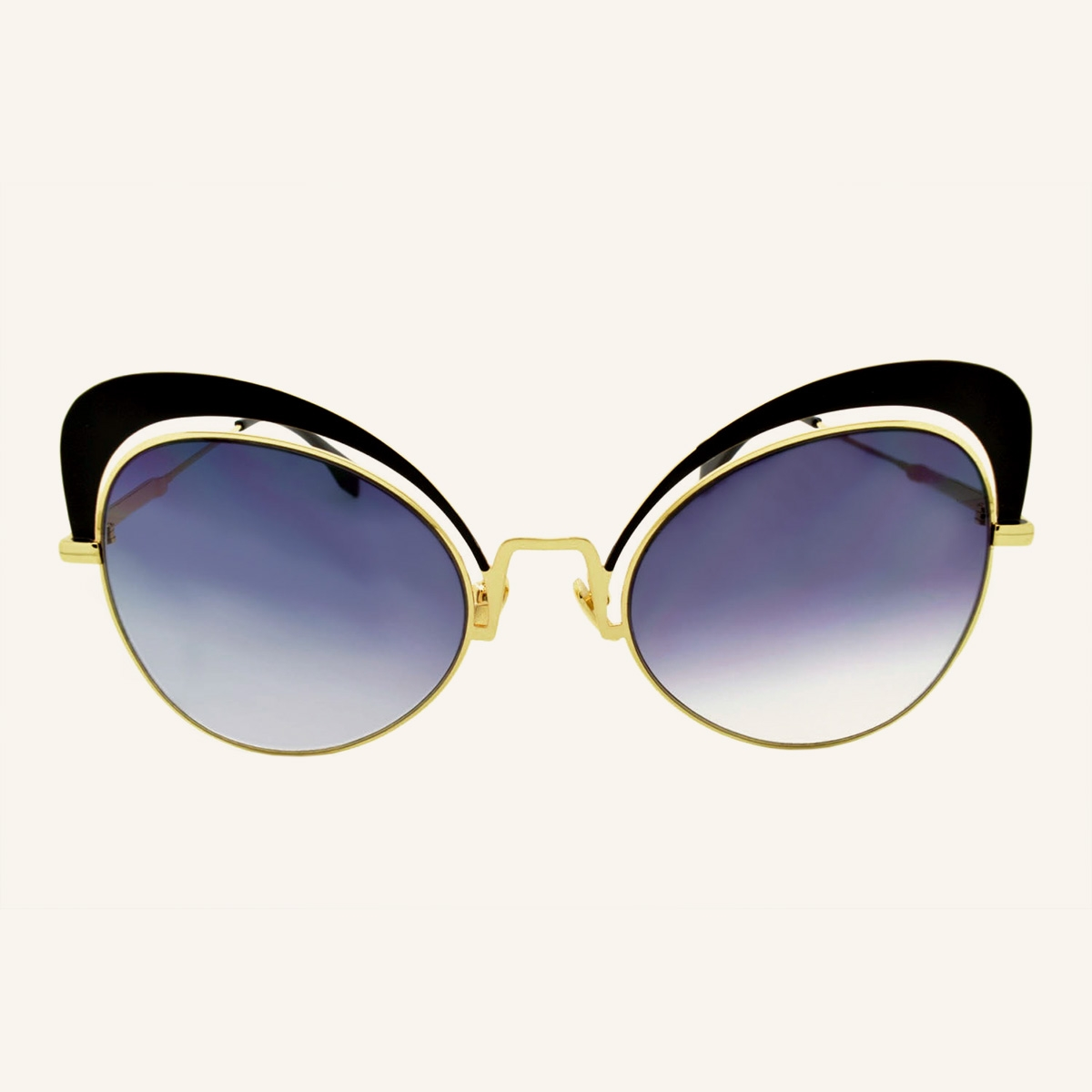 Oversized butterfly sunglasses 70's