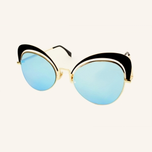 Oversized butterfly sunglasses 70's