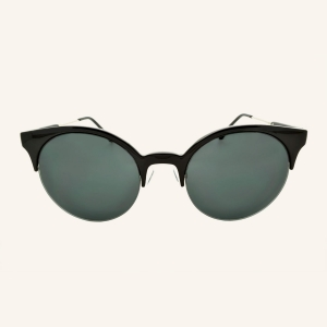 Round eye-brow sunglasses bi-material