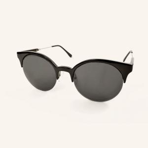 Gafas de sol redondas semi-circulas bi-material
