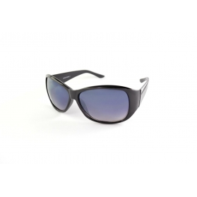 Oval sunglasses with silver line