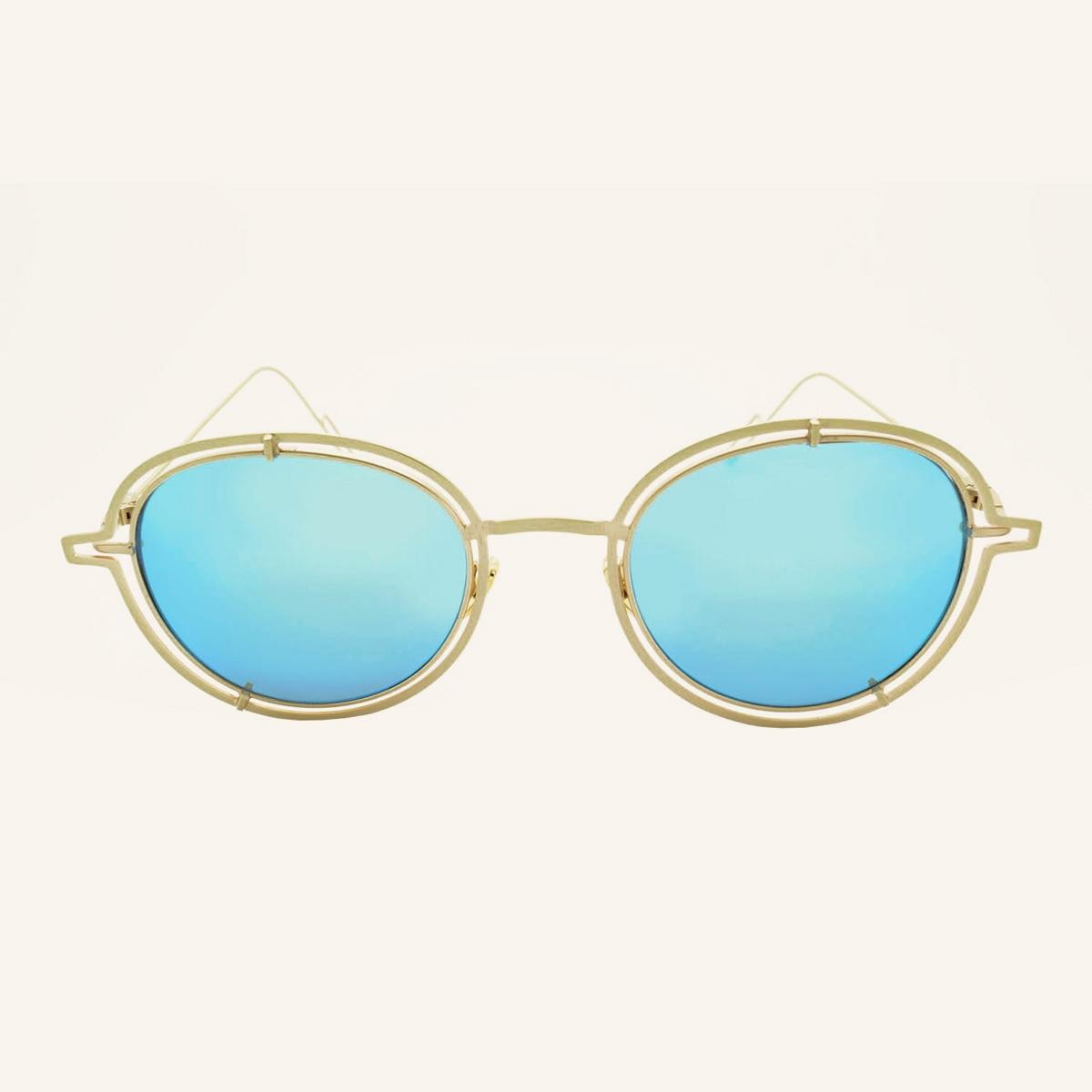 Gafas de sol redondas con anillos Miami