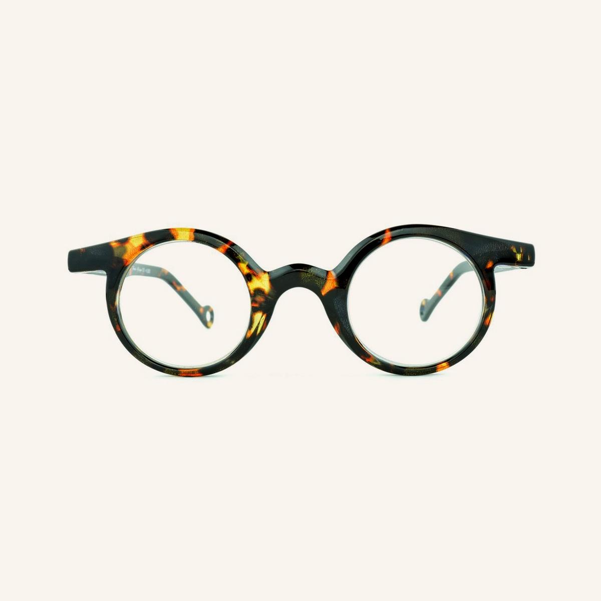 Round reading glasses Frog