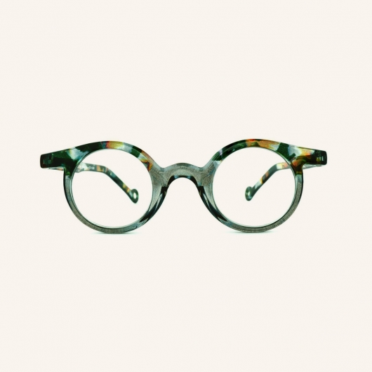 Round reading glasses Frog