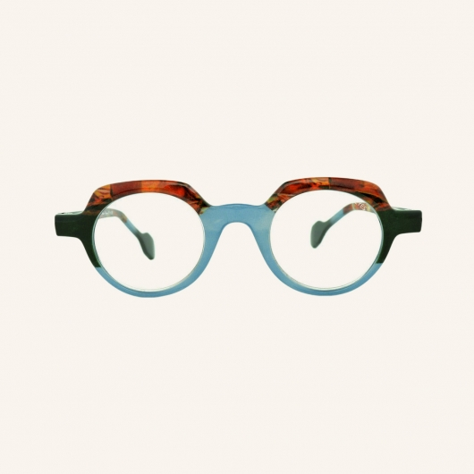 Geometric round reading glasses Lotti