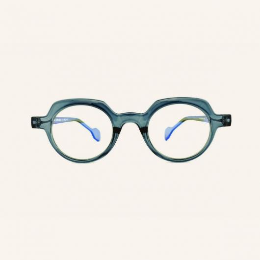 Geometric round blue light eyeglasses Lotti