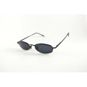 Semi-rimless metal sunglasses