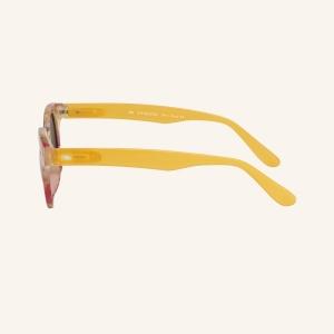 Gafas de sol polarizadas redondas con parte superior angular