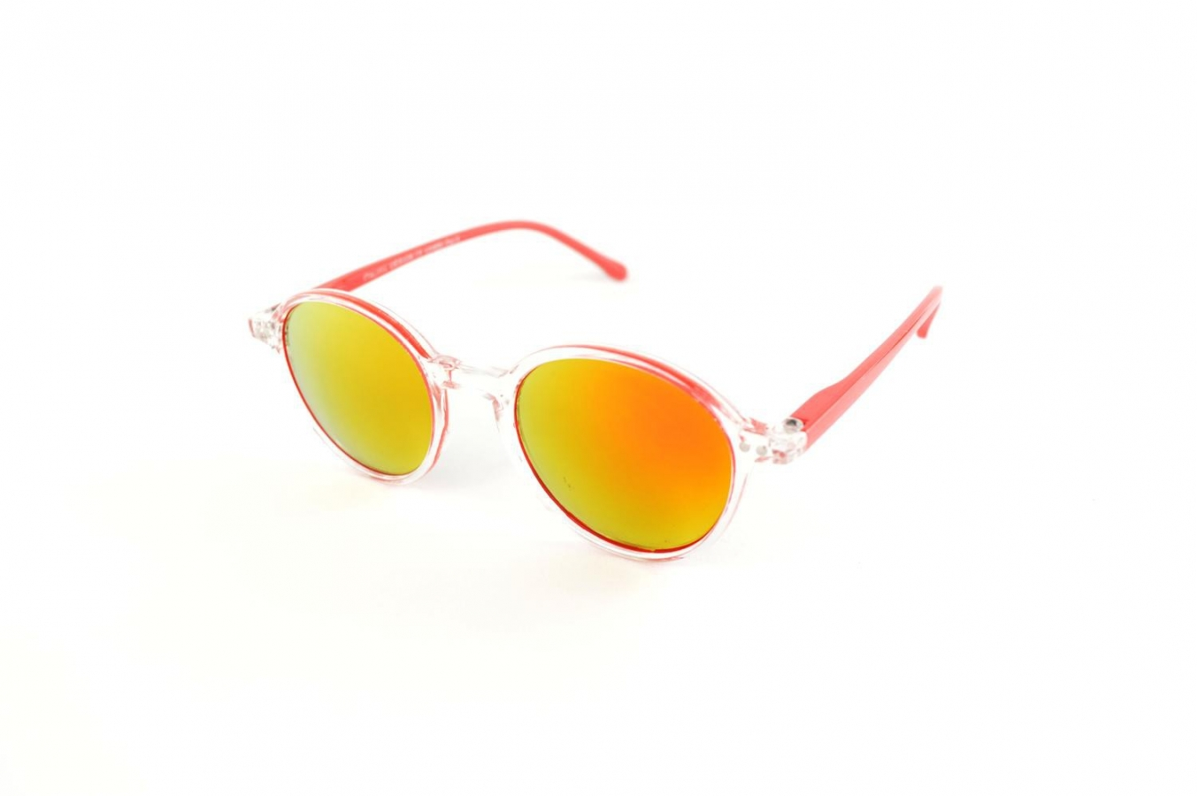 Two tone mirror round sunglasses k eyes for Miroir soleil deco