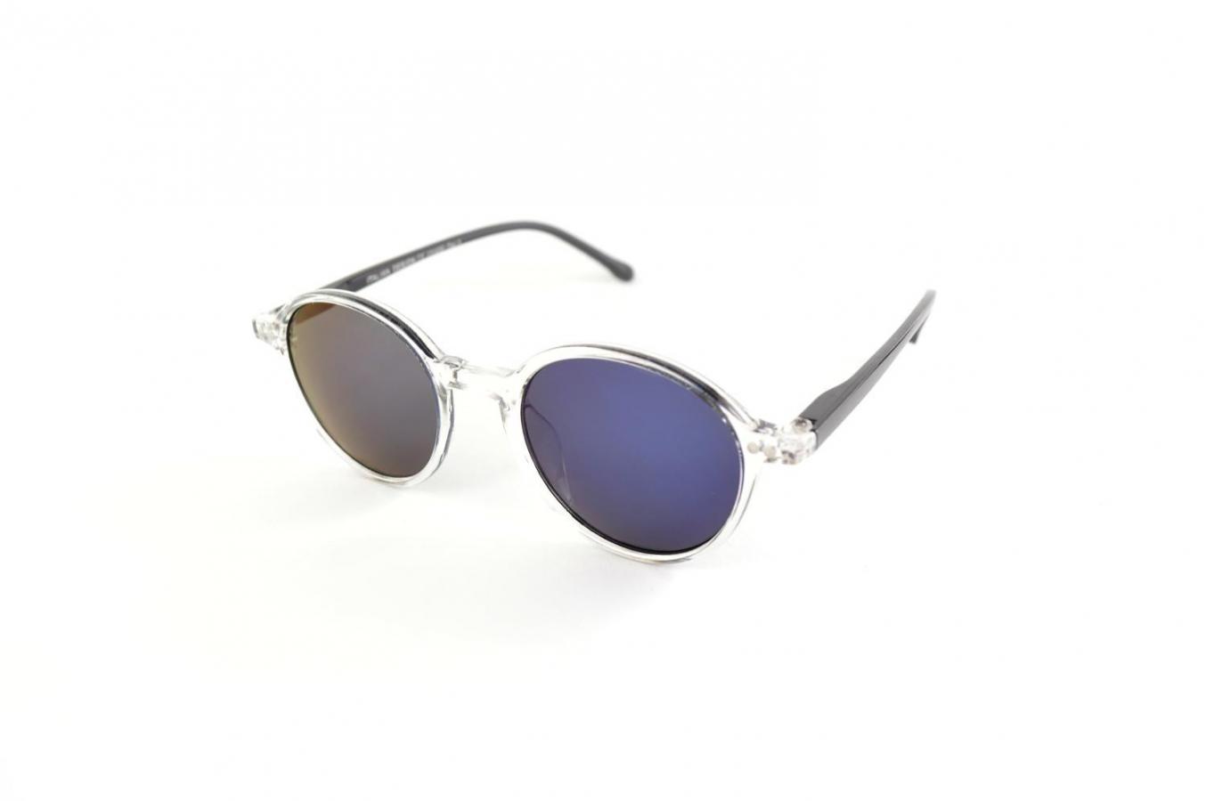 Lunettes de soleil ronde bicolore miroir k eyes - Miroir en forme de lunette ...
