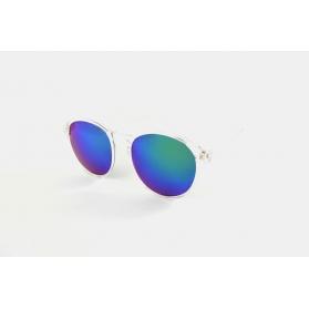 Large round transparent sunglasses