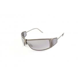 Metal wraparound sunglasses with 4 lenses