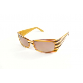 Lunettes de soleil grand rectangle rayure