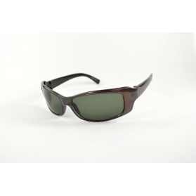 Green and brown sport sunglasses