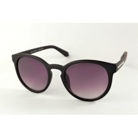 Grandes gafas de sol redondas mate con flecha