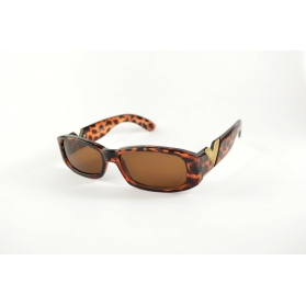 Wide rectangular tortoiseshell sunglasses