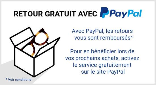 Retours gratuits PayPal
